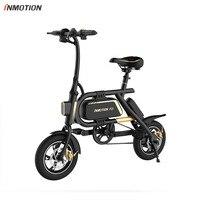 Inmotion p2f ebike bicicleta dobrável mini scooter elétrico bateria de lítio íon 350 w ce rohs fcc Bicicleta elétrica     -
