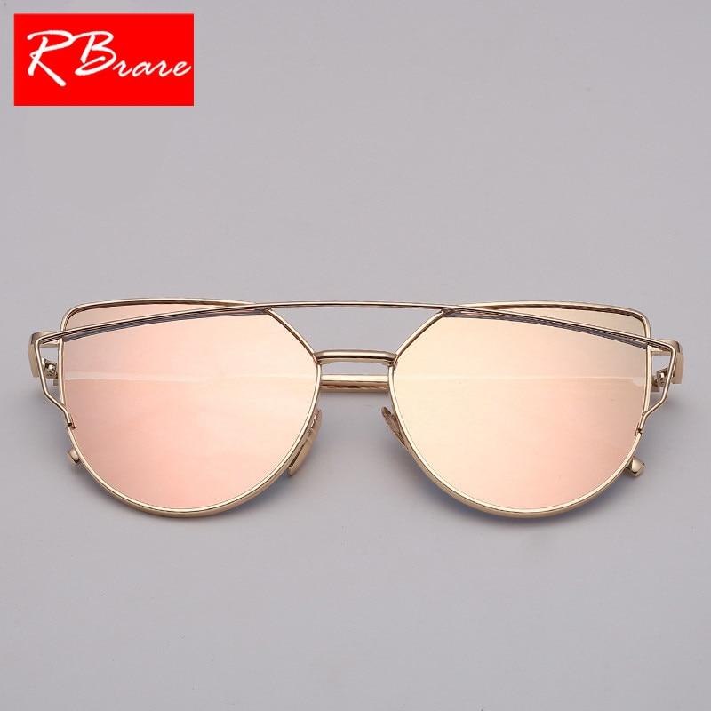 eedc2f0f39a Aliexpress.com   Buy RBRARE 2018 Classic Luxury Sunglasses Women Cateye  Vintage Metal Glasses For Women Mirror Retro Lunette De Soleil Femme UV400  from ...