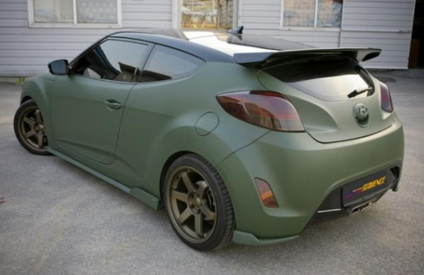 Non Turbo FIBER GLASS FRP For Veloster Sequenc Style Rear Spoiler Wing