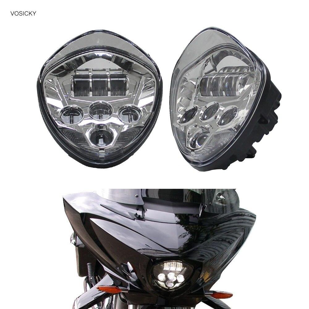 Мотоцикл светодиодные фары Победа мотоциклов хром аксессуары для 2010-2016 модели креста, 10-16 крейсеров ( для победы)