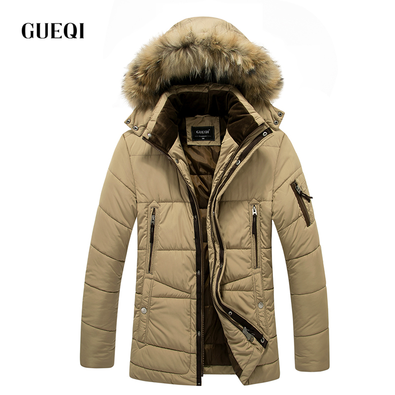 ФОТО GUEQI 2017 Men New Winter Jacket Brand Clothing Warm Casual Solid Men's Popular Hooded Parkas For Male Jackets Outwear Coats 223