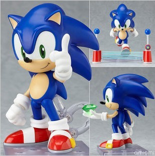 Free Shipping Cute 4 Funny Blue Sonic the Hedgehog Vivid Nendoroid Series Boxed PVC Action Figure Collection Model Toy #214 тройной стеклодомкрат santool 032533