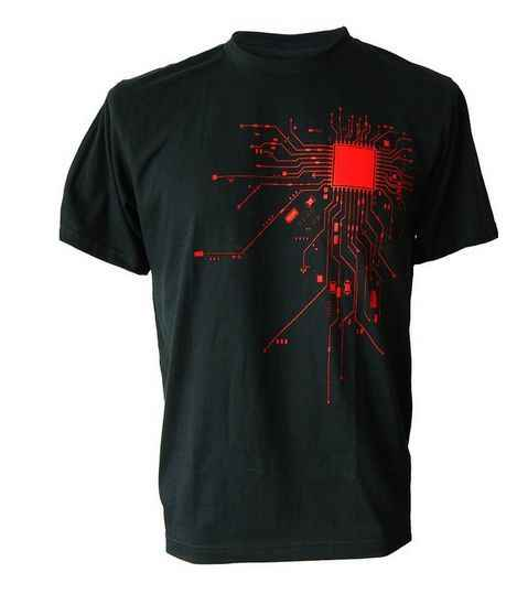 Bilgisayar CPU çekirdek kalp T-Shirt erkek GEEK Nerd Freak Hacker PC Gamer Tee yaz kısa kollu T gömlek Euro boyutu S-XXXL