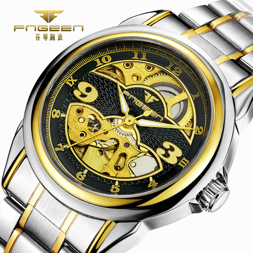 все цены на  Men Watches Famous Luxury Brand Man Mechanical Watch Male Skeleton Automatic Clock Stainless Steel Hodinky Waterproof Wristwatch  в интернете