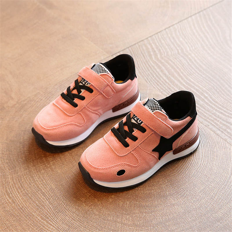 Girls Shoes Kids Children Casual Shoes Boys Brand Kids Leather Stars Sneakers Sport Shoes Fashion Casual Children Boy Sneakers adidas samoa kids casual sneakers