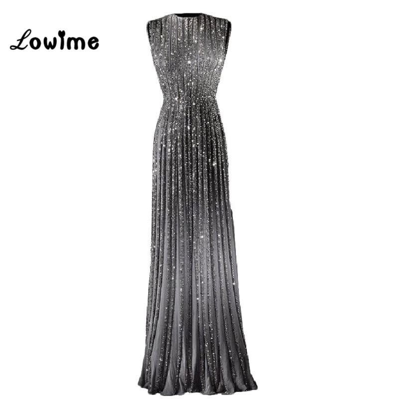 2017 Zlatna večernja haljina Long s Crystal Prom haljina Kat Dužina - Haljina za posebne prigode - Foto 3
