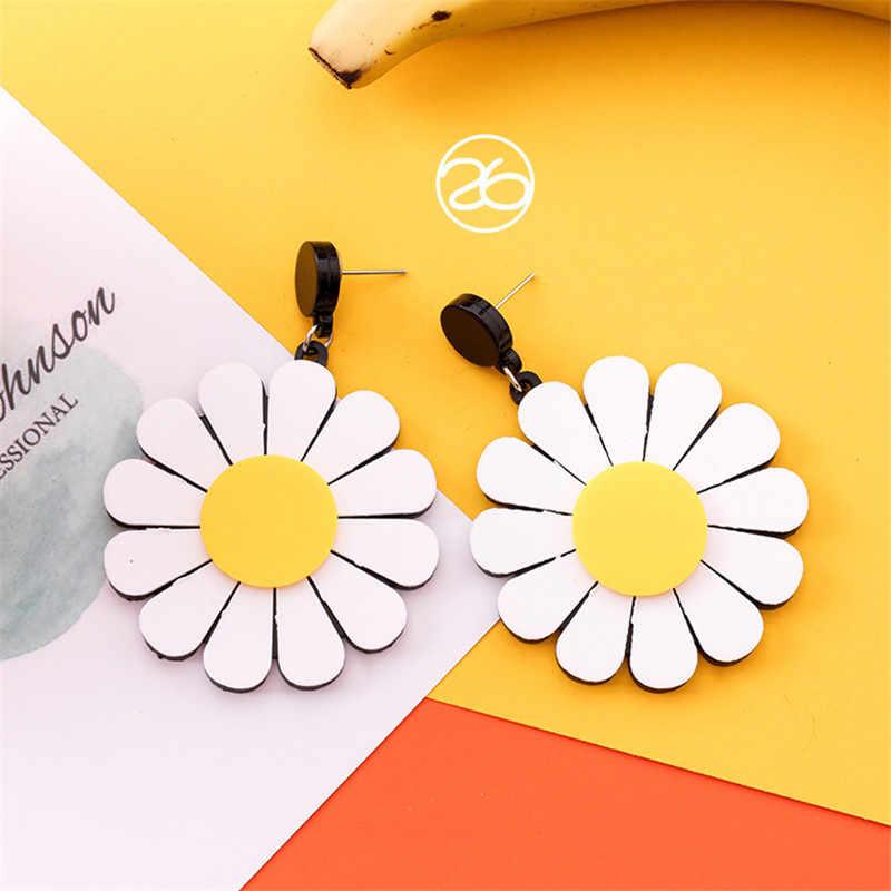 夏シンプルな韓国のイヤリングガールかわいい黄色オレンジ人格妖精ドロップファッション女性アクセサリージュエリー
