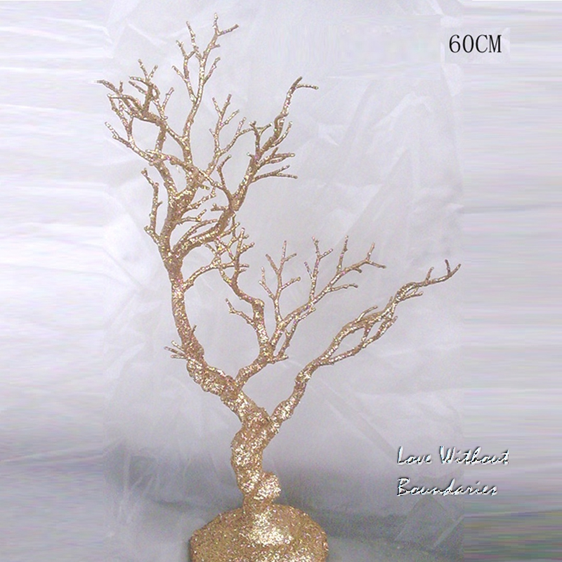 Simulation tree 60cm height, Stem branch, Trunk, Environmental protection resin, 3 colors can choose