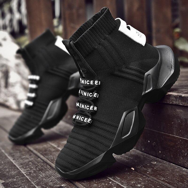VSIOVRY/весенне осенние модные носки, кроссовки, мужская обувь, мужская обувь, мужская вязаная дышащая прогулочная обувь, Нескользящие кроссовки, красовки