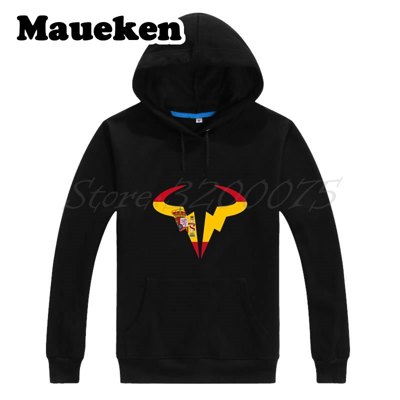 Men Hoodies Matador Rafael Nadal with spain logo Sweatshirts Hooded Thick for Tennising fans gift Autumn Winter W17101309