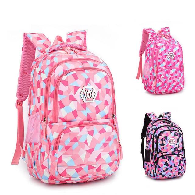 280d32d8a5 WULEKUE Fashion Girl School Bag Waterproof light Weight Girls Backpack bags  printing backpack child 5