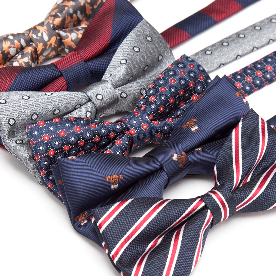 Mens Bowtie business butterfly party necktie wedding bow tie for men Dress Mens gift Stripes JACQUARD WOVEN Casualbowtie