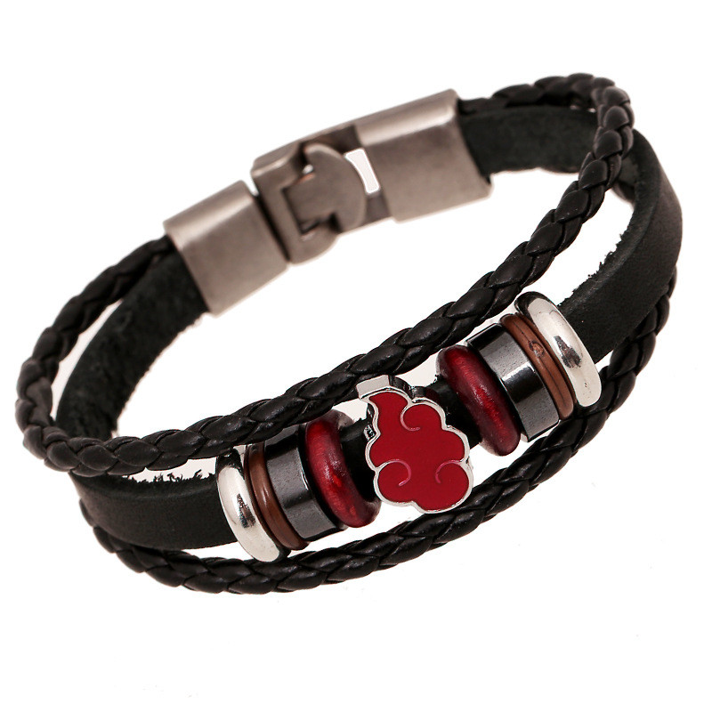 er anime naruto bracelet homme vintage hand woven bracelets handmade genuine leather braclet men. Black Bedroom Furniture Sets. Home Design Ideas