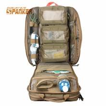 SPANKER Plecak Wojskowy MOLLE Tactical Medyczne Apteczka Torby Plecak Bojowy Szturmowy Plecak Piesze Wycieczki Polowanie Awaryjne