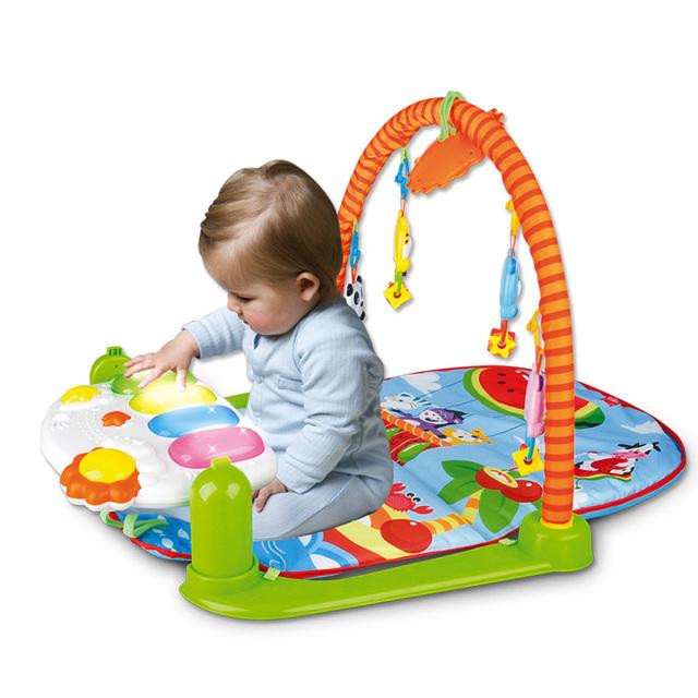 Los bebés Varones de Piano Multifunción Estera Estante de la Aptitud Con Música Sonajero Actividad Infantil parque infantil Para Niños Juguetes Educativos Música jugador
