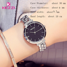 KEZZI Luxury Brand Watches Women Waterproof Stainless Steel Quartz Watch Roman Scale Multi Cutting Surface Mirror Bracelet Watch