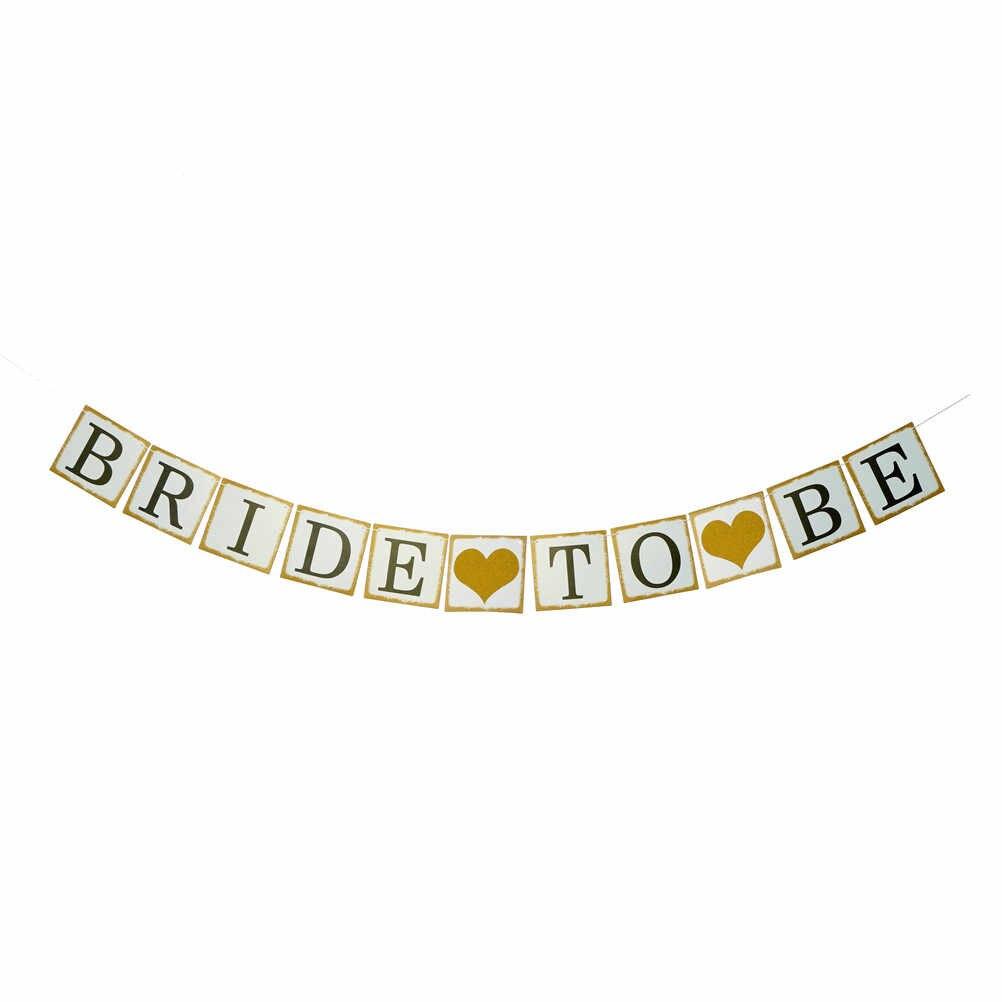 3 Mt Braut Banner Party Favors Supplies Nur Verheiratet Verpassen Mrs Brautdusche Bachelorette Hochzeit Dekoration