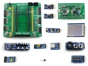 Open32F0-D Package B=ST original STM32F0DISCOVERY,STM32F0 Cortex-M0,STM32F051 MCU,STM 32 Board+2.2inch 320x240 Touch LCD+11 Acc free shipping stm32f0 discovery cortex m0 stm32f051 development board