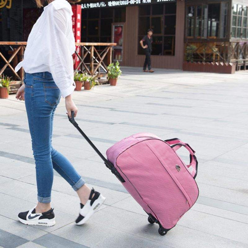 Image 2 - Waterproof Large Capacity Travel Bag 2019 Fashion Casual Thick Style Rolling Suitcase With Wheels Luggage For Women Men StudentsTravel Bags   -