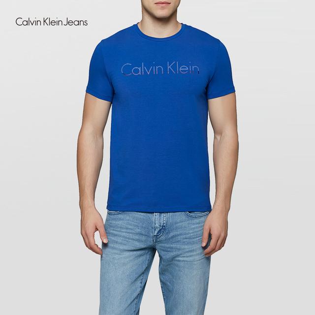 Calvin Klein Jeans / CK 2017  Men's Casual Simple Cotton Short Sleeve T-shirt Men Classic Fashion Letter print Tops Tees 4ASKJP4