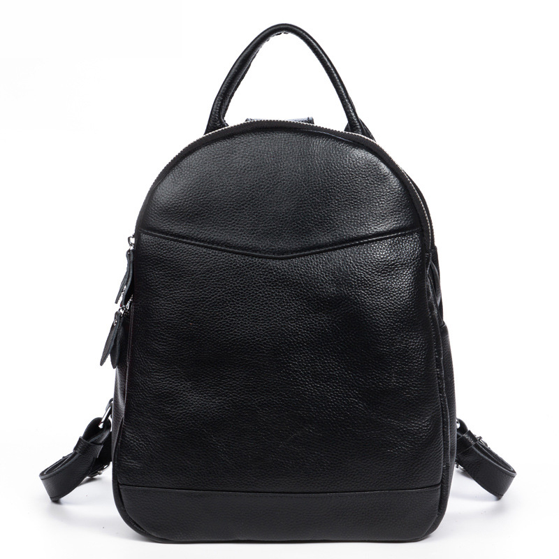 2016 fashion Preppy Style genuine leather women school backpacks real cowhide travel backpack for women shoulder bags back pack nawo fashion genuine leather backpack rivet women bags preppy style backpack girls school bags zipper large women s backpack sac