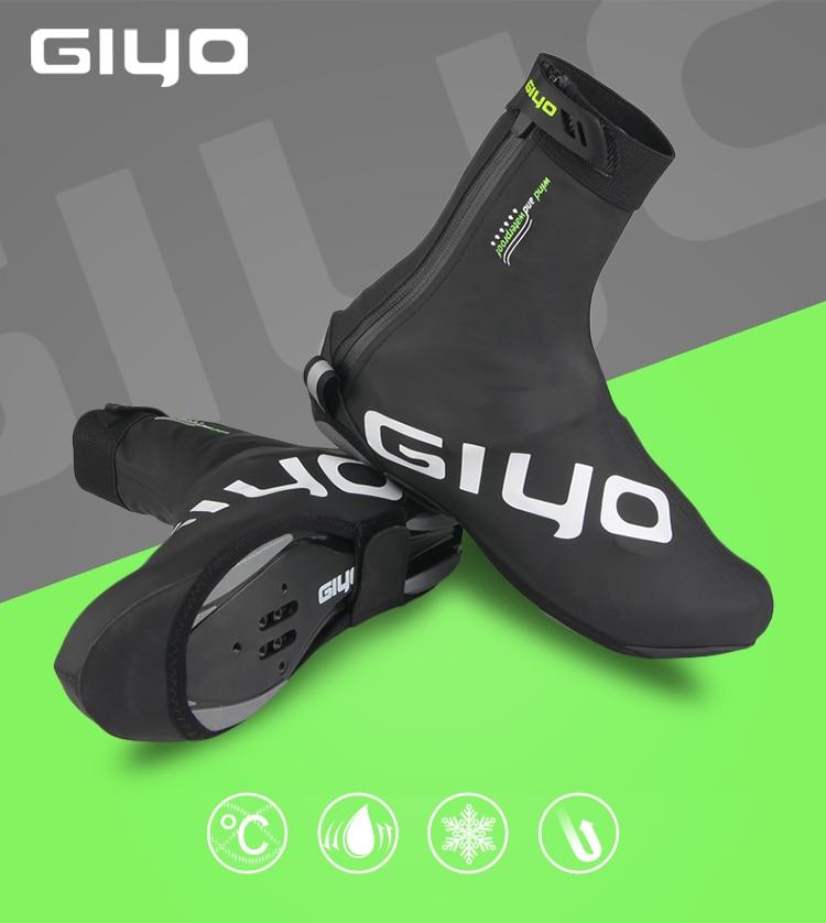 GIYO Cycling Boot Covers Warm Cycling Shoe Covers Waterproof Winter