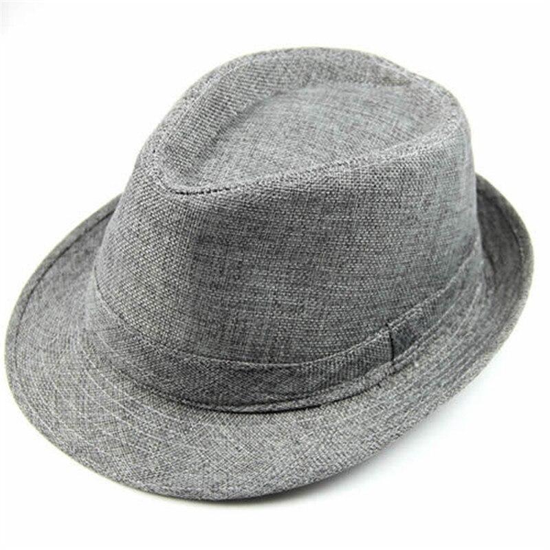 9023b7be658 Fashion Unisex Visor Fedora Summer Women Men Casual Hemp Cotton Panama  Trilby Hat Jazz Caps 6