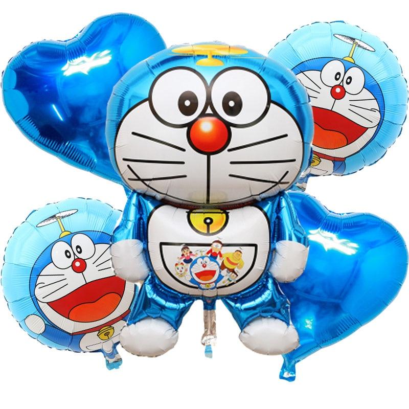5pcs/lot Giant Doraemon foil Balloons globos inflatable toys happy Birthday ball