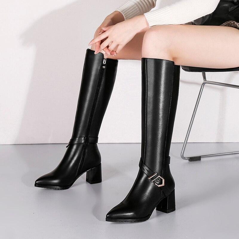 2019 в европейском стиле в стиле панк, большие размеры, с квадратным носком, из водонепроницаемого материала Обувь на высоком каблуке женские ... - 2