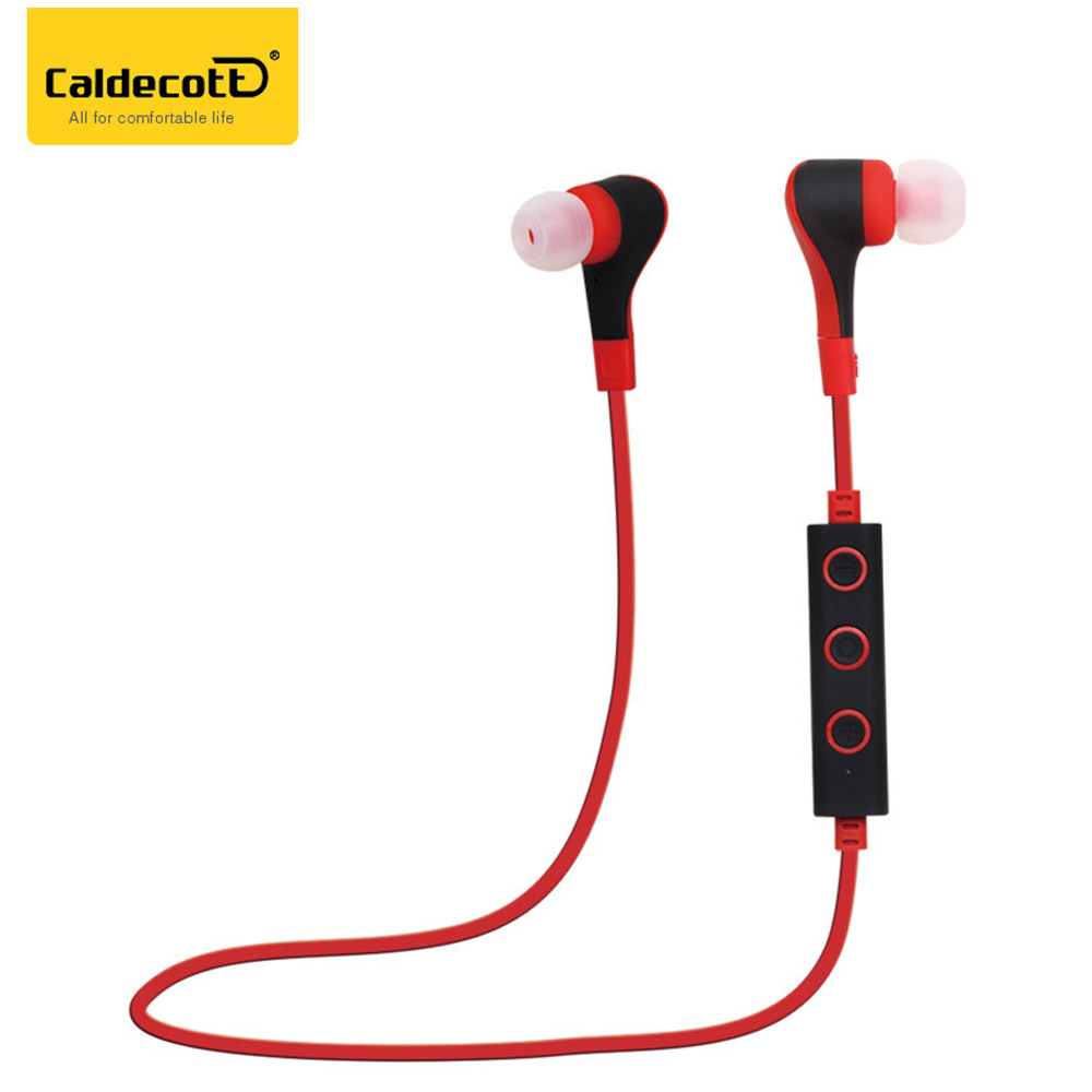 Caldecott Wireless Bluetooth Earphone Earbuds Sport Handsfree Stereo Music Earphones with Microphone for Mobile Phone Tablet PC koyot sport headphones bluetooth earphones ear phone wireless stereo headset earphone music handsfree for iphone 7 ios android