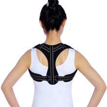 Therapy Clavicle Spine Corrector Breathable Back Shoulder Posture Medical Bandage To Relief  Pain Black
