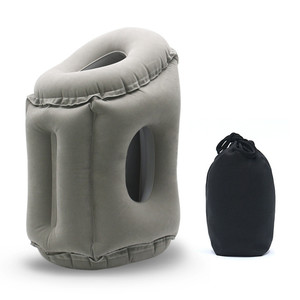 Image 2 - Upgraded Inflatable Air Cushion Travel Pillow Headrest Chin Support Cushions for Airplane Plane Car Office Rest Neck Nap Pillows