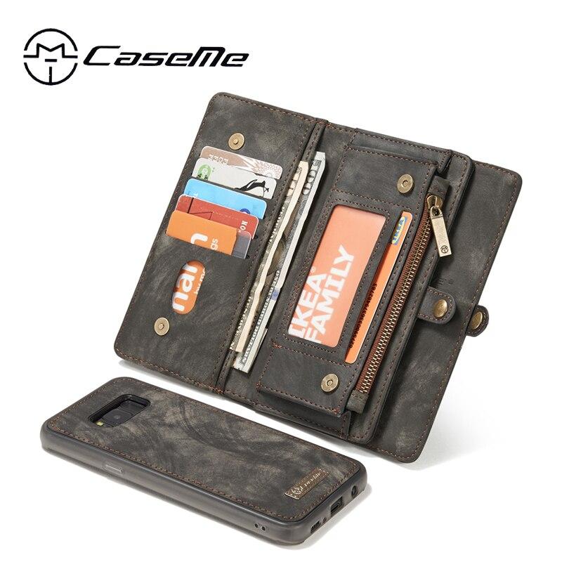 bilder für Für Samsung Galaxy S8 Fall Galaxy S8 Plus Abdeckung CaseMe Multifunktions Schlag-standplatz-mappen-leder-kasten Fundas Magnetische Coque Carcasa