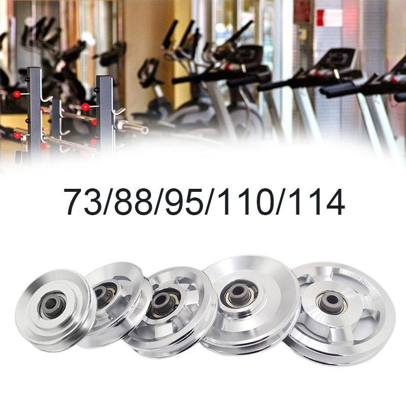 1 Piece Universal Aluminum 73mm/88mm/95mm/110mm/114mm Diameter Pulley Wheel Lift Heavy Load Fitness Gym Equipment