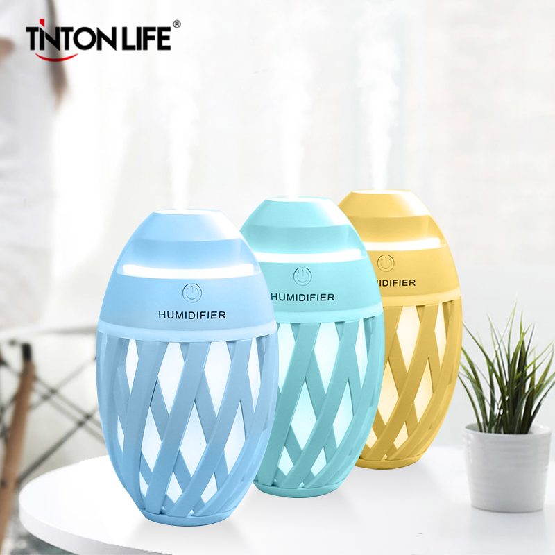 Olive Type Humidifier Mini USB Air Humidifier Essential Oil Diffuser Portable LED Aromatherapy Mist Maker Electric Aroma Diffuse thankshar usb lemon aroma diffuser umidificador aromatherapy for car essential oil diffuse portable mini humidifier for home