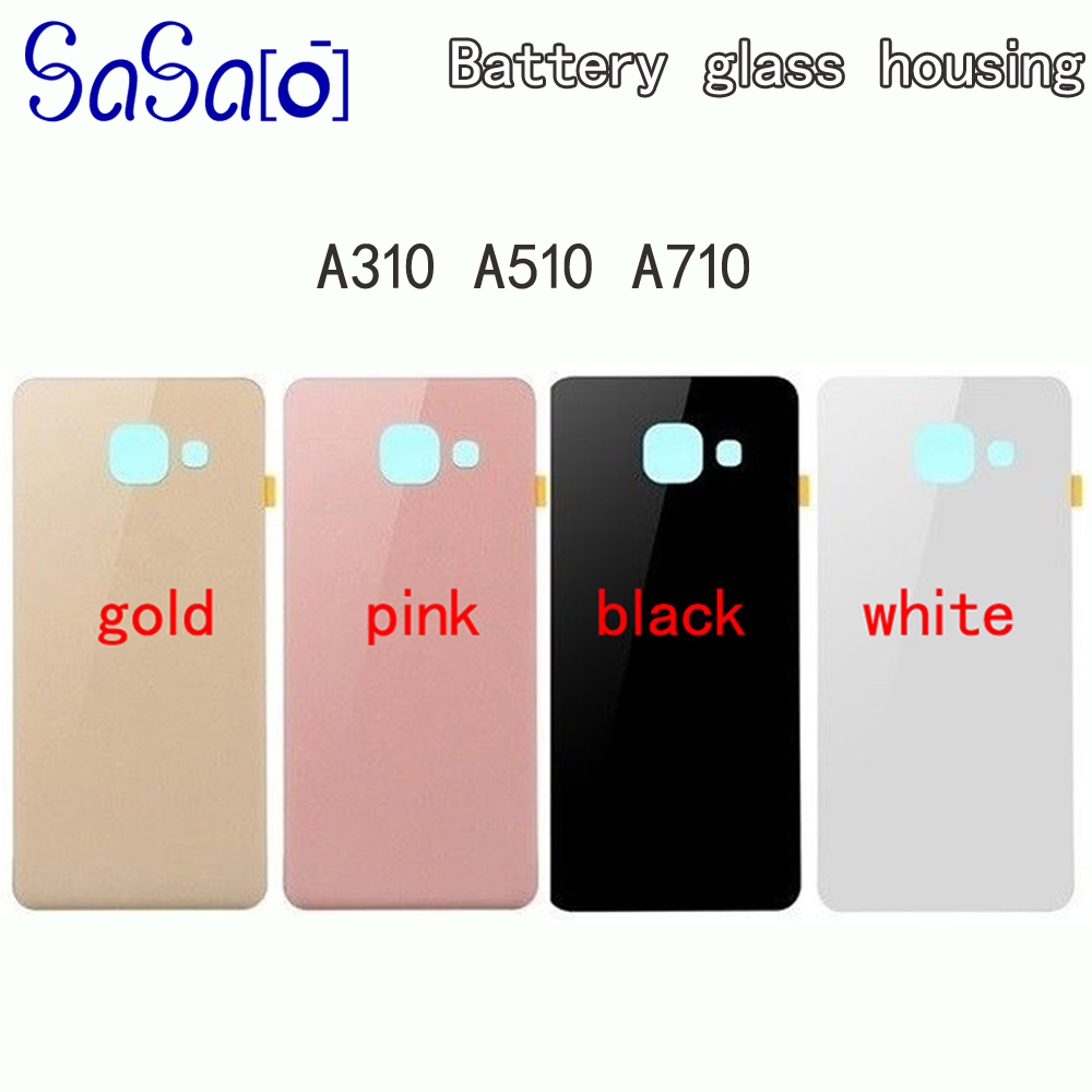 A3 A5 A7 2016 Back Glass Cover Replacement part For Samsung Galaxy A310 A510 A5100 A710