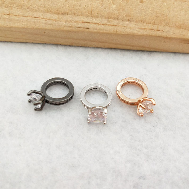 10 Pieces Tiny CZ Crystal Charm Pendant CZ Zircon Stone Micro Pave Pendant Finding DIY Necklace Jewelry PD890