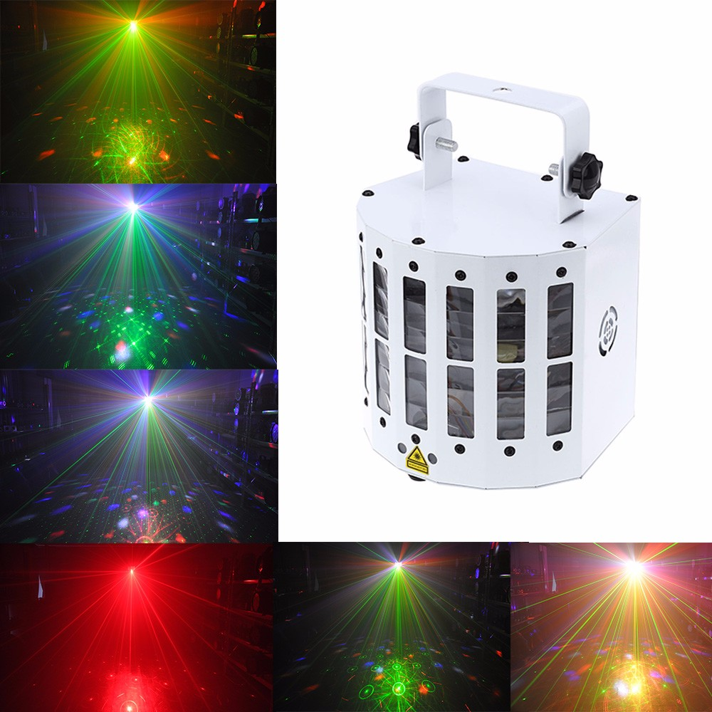 Premium sound active laser projector dmx512 led rgbwy for Home lighting effects