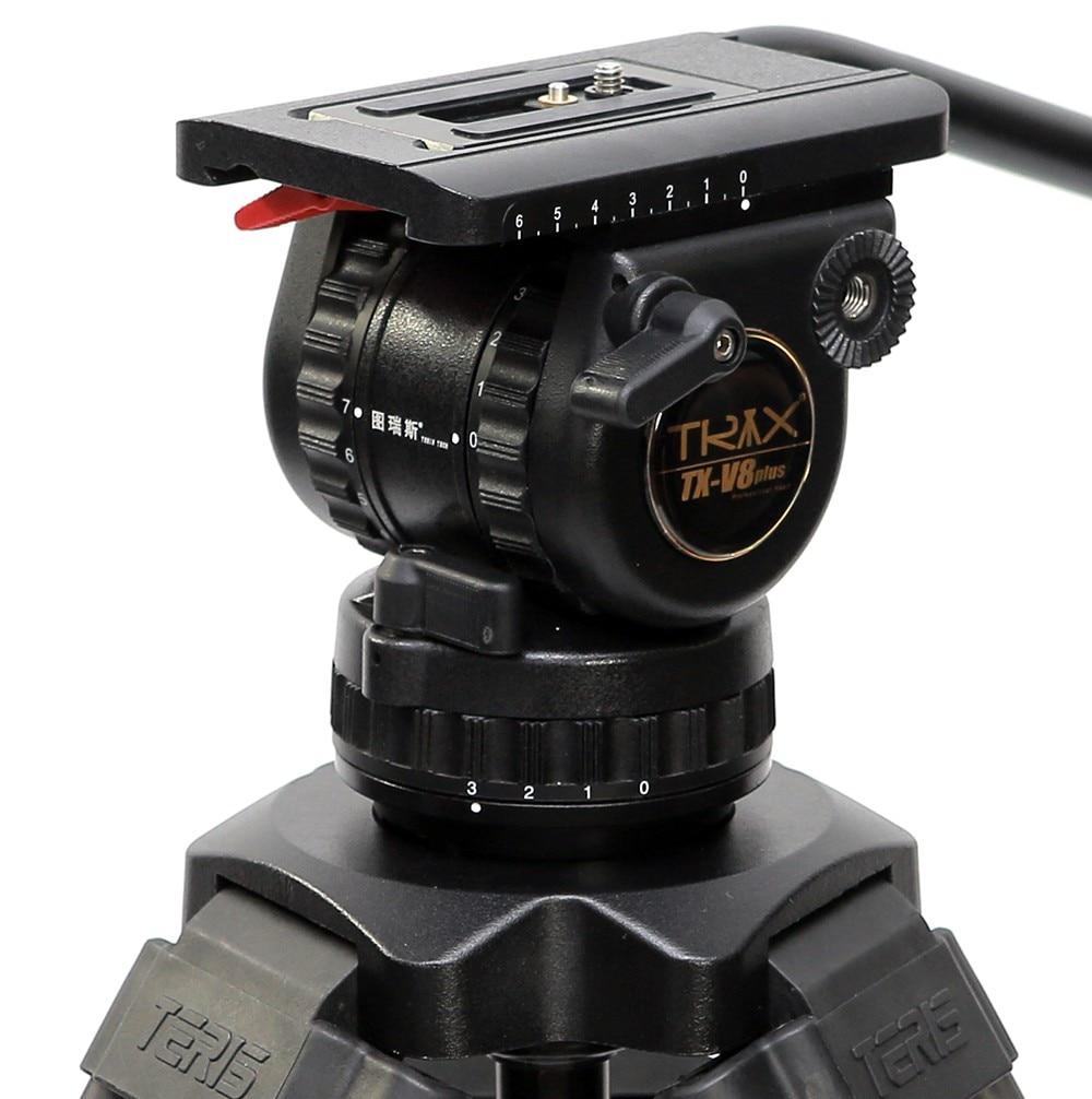 TRIX Teris V8 Plus TS80 tête de trépied professionnel tête de 75mm bol charge 8 KG pour trépied vidéo HDV C300 BMCC appareil photo Tilta