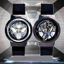 New Iron Man Avengers 4Touchscreen Waterproof Watch LED Pointer Joint Marvel Super Hero Electronic Watch Movie Figure Toys(China)