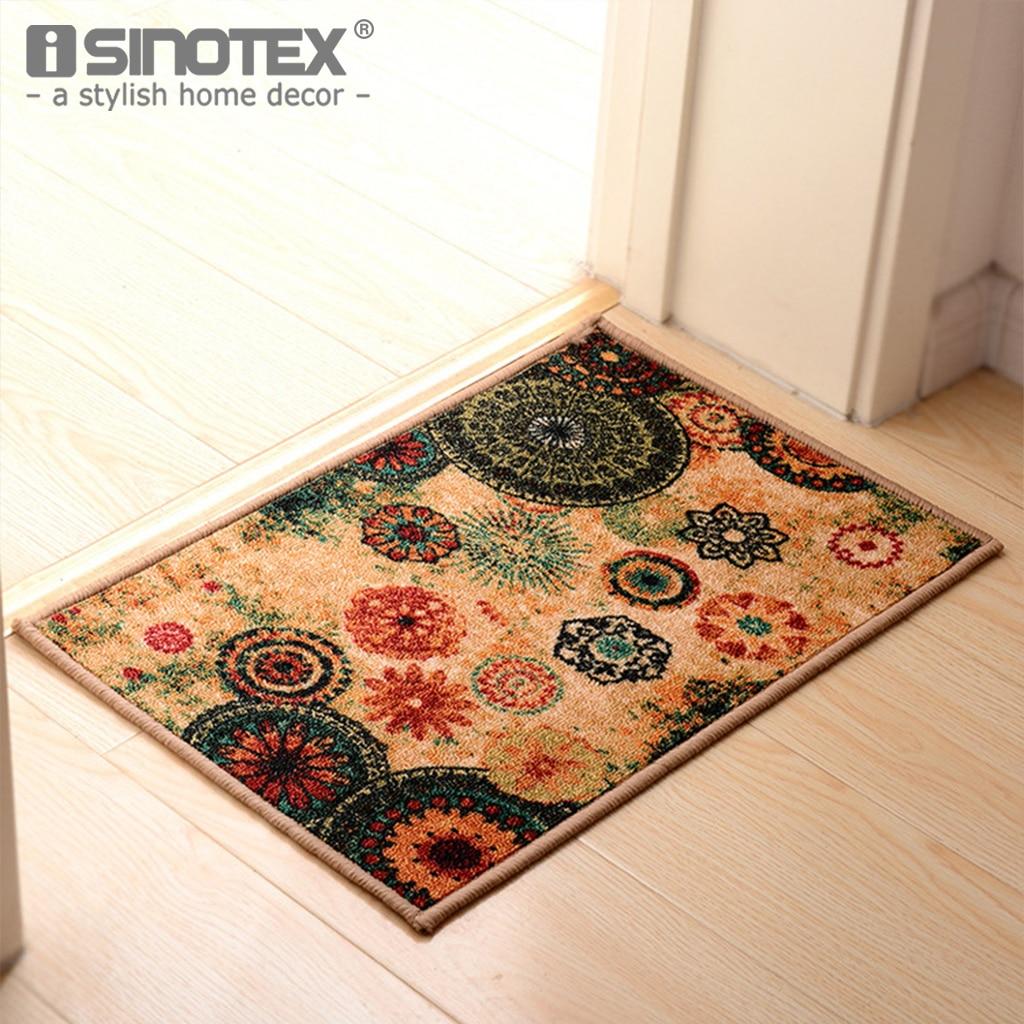 1PCS Retro Floral Decorative Entrance Kitchen Doormat Area