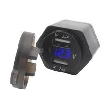 цена на 5V 2.1A Motorcycle Car Socket Voltage Display USB Charger LED Voltage Digital Display Panel