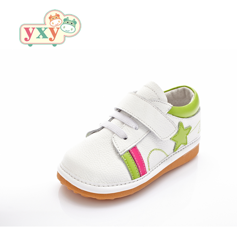 YXY brand spring autumn squeaky natural leather baby boys ...
