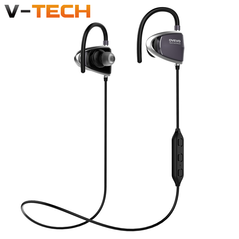 Original OVEVO B08 high quality Stereo Ear Hook Earphone Line Control Mic Noise Cancelling Bass Headset for MP3,Smartphone