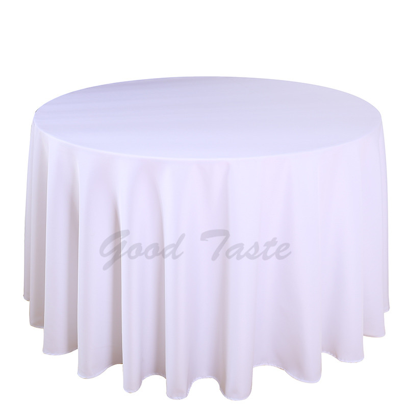 10PCS/Lot Wedding Table Cloth Polyester Round Rectangular for Banquet Restaurant Party Dining Hotel Machine Washable Table Linen-in Tablecloths from Home & Garden    1