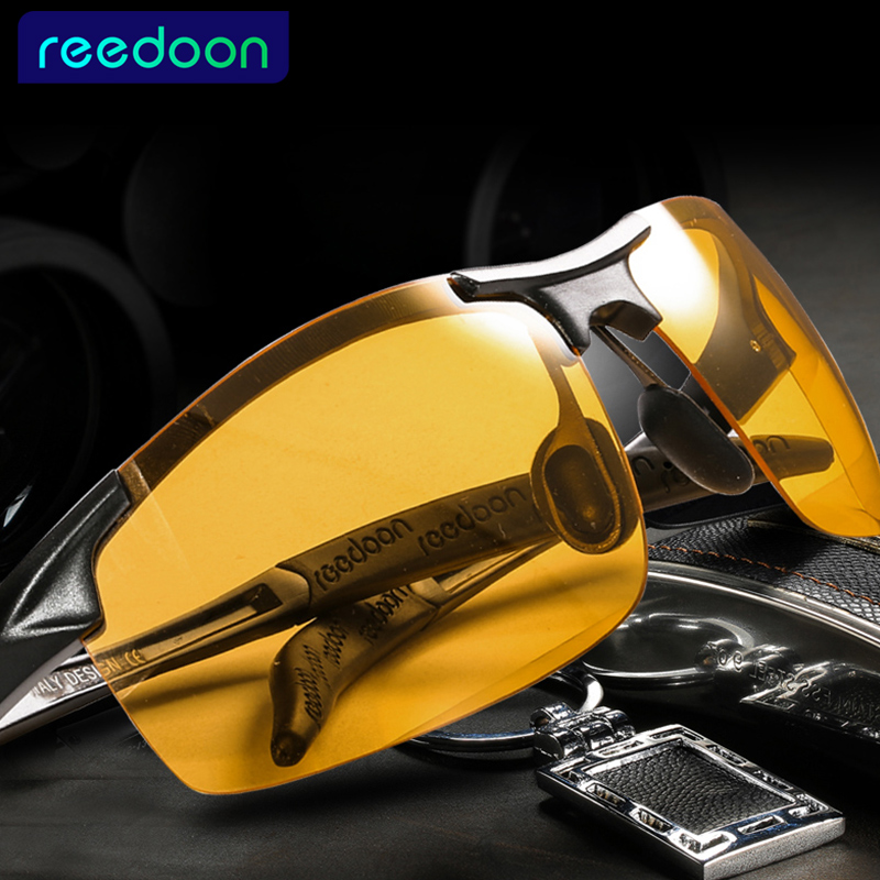 2018 Day Night Vision Goggles Driving Polarized Sonnenbrillen für Herrenauto Driving Brillen Anti-Glare Alloy Frame Brille Nacht