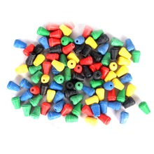 Anmuka 100pcs Colorful Fishing Stoppers Beads Sea Fishing Tackle Floating Fishing Beads Soft Plastic Accessories