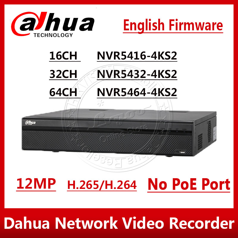 Livraison EXPRESS Dahua NVR5416-4KS2 NVR5432-4KS2 NVR5464-4KS2 16/32/64 CH 1.5U 4K & H.265 Pro Enregistreur Vidéo Réseau 12MP 4 SATA
