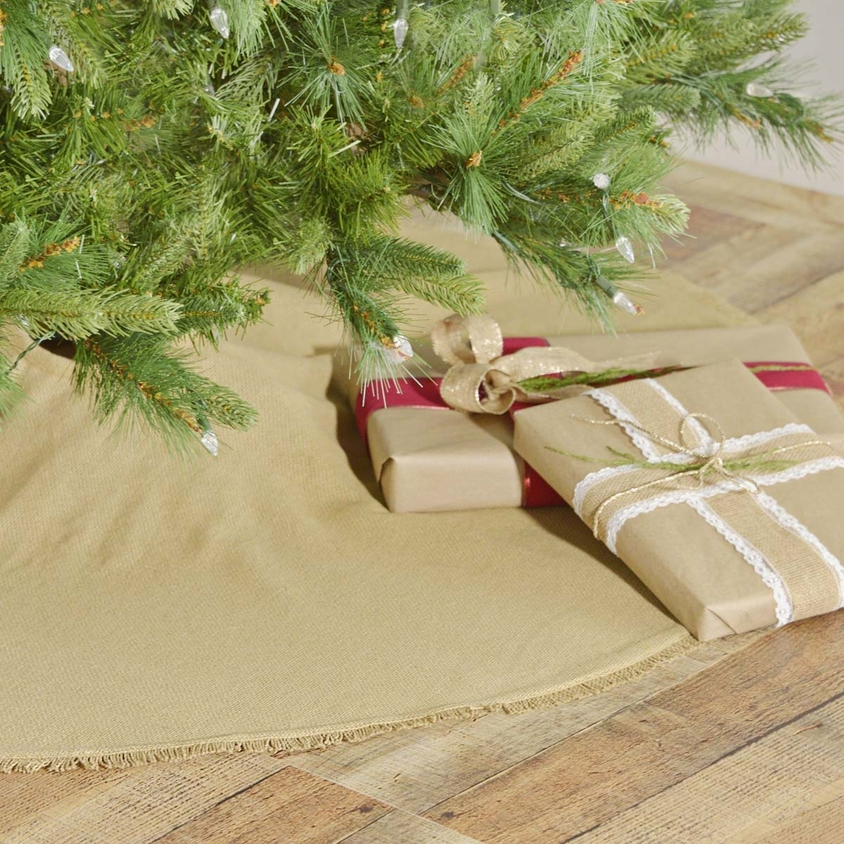 Seasonal Holiday Festive Red Burlap Tree Skirt Christmas Home Decoration Decorations From Bowstring 48 55 Dhgate Com