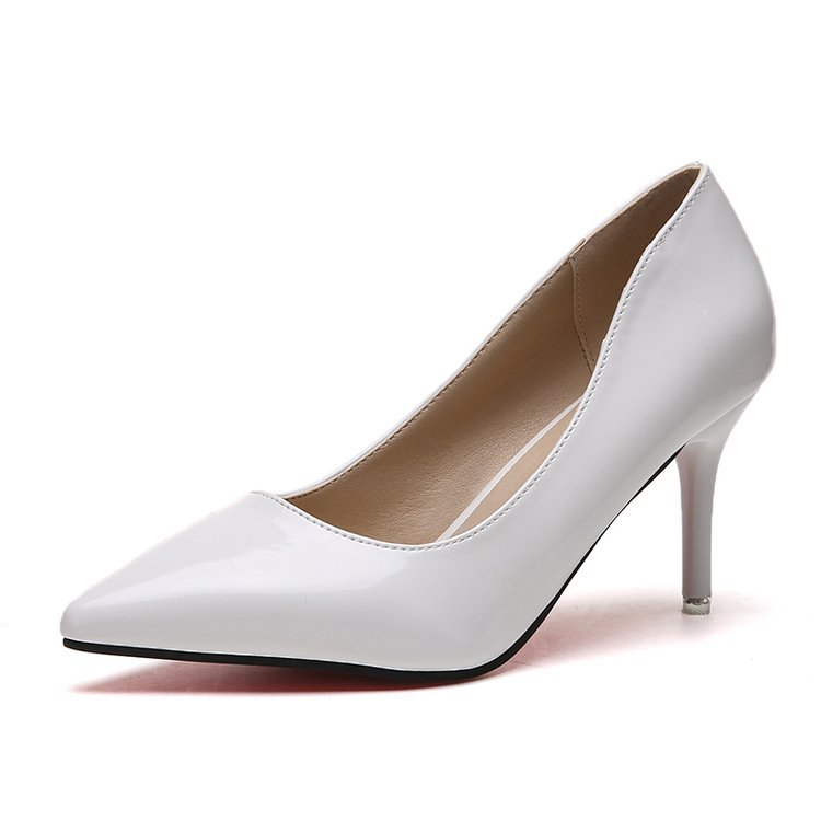 Spring 2019 fashion nude color high heel womens fine with black pointed professional ol single shoes summerSpring 2019 fashion nude color high heel womens fine with black pointed professional ol single shoes summer